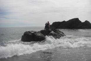 4   Hug point in Oregon, my best friend and I owned this rock